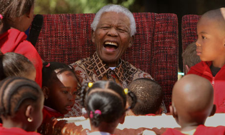Nelson-Mandela with children